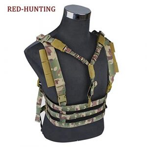 Redland Art Airsoft Tactical Vest 1 Redland Art Military Tactical Vest Airsoft Molle System Low Profile Chest Rig Removable Gun Sling Hunting Airsoft Paintball Gear Airsoft Tactical Vest