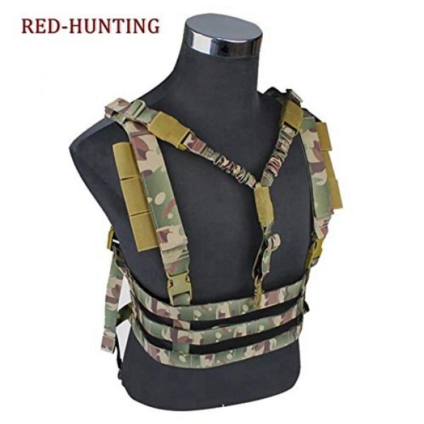 Shefure Airsoft Tactical Vest 2 Shefure Military Tactical Vest Airsoft Molle System Low Profile Chest Rig Removable Gun Sling Hunting Airsoft Paintball Gear