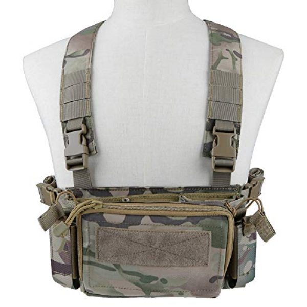 Downhill Airsoft Tactical Vest 1 Camouflage Tactical Vest Airsoft Ammo Box Rig, and Chest Camo Downhill Tactical Vest 5.56 Inch, 0.354InchTactical Vest