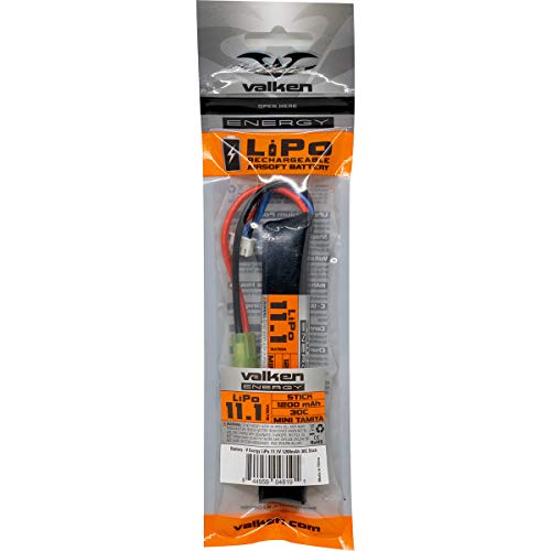 Valken Airsoft Battery 2 Valken Airsoft Battery - LiPo 11.1v 1200mAh 20C Stick Style