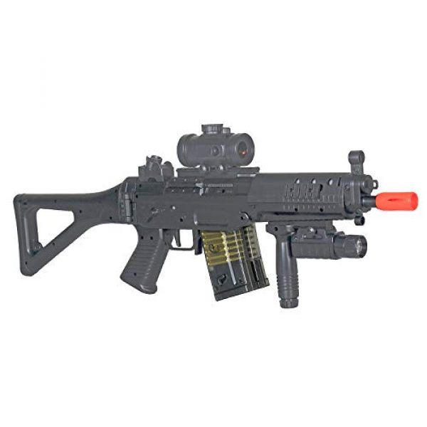BBTac Airsoft Rifle 5 BBTac Double Eagle Airsoft Gun AEG Electric Rifle Full Auto Great Starter with Premium Airsoft Carrying Sling
