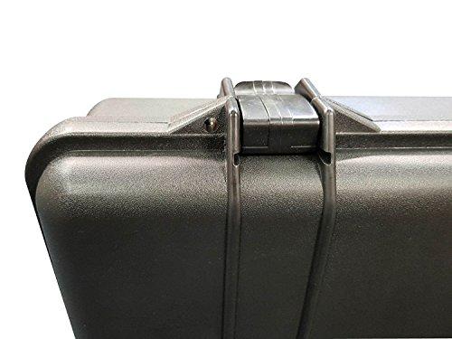 A&N Airsoft Gun Case 5 A&N SRC Airsoft Rifle Gun Foam Padded Plastic Carrying Gun Case Black
