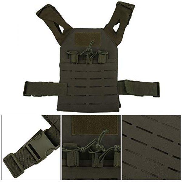 Demeras Airsoft Tactical Vest 5 Demeras Tactics Vest Outdoor Vest Anti-Static Multifunctional Lightweight Wear-Resistant Oxford Cloth CS for Kids
