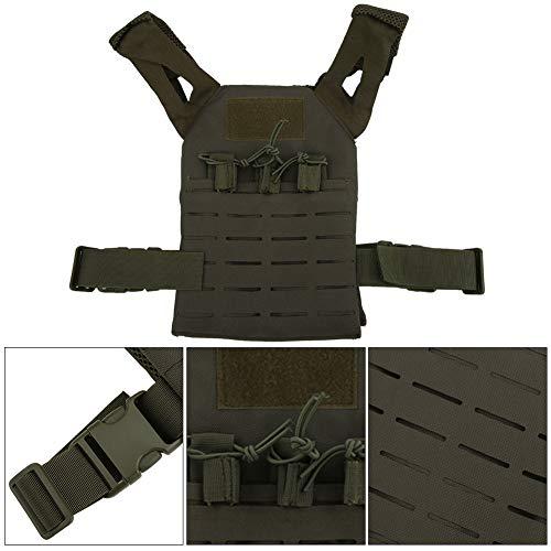 Alomejor Airsoft Tactical Vest 2 Alomejor Airsoft Paintball Vest Children Adjustable Waistcoat Jacket Combat Training Vest for Outdoors Games Thick Guard