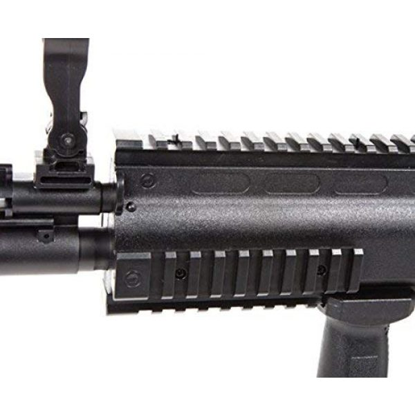 FN Airsoft Rifle 2 FN Scar-L Spring Powered Airsoft Rifle, Black, 400 FPS