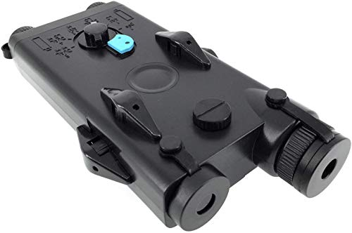 SportPro Airsoft Battery 2 SportPro Polymer PEQ-II Style Dummy Battery Box with Red Laser for AEG Airsoft Black