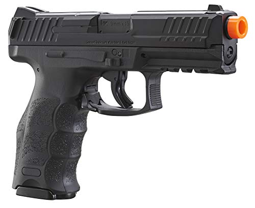 Umarex Airsoft Pistol 5 Umarex H&K VP9 Co2 - BLK Airsoft Pistol with Included 5x12 Gram CO2 Tanks and Wearable4U Pack of 1000 6mm 0.20g BBS Bundle