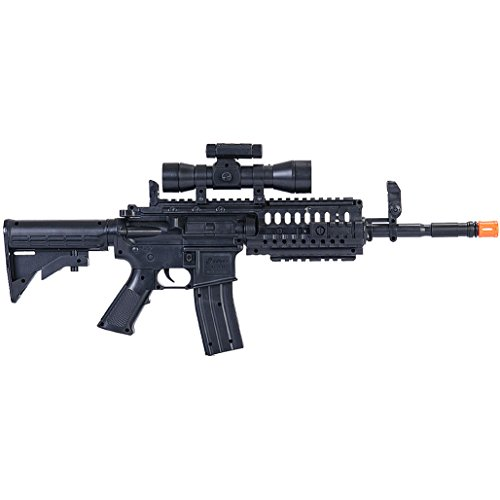 UKARMS Airsoft Rifle 2 UKArms M4 A1 M16 TACTICAL ASSAULT SPRING AIRSOFT RIFLE PELLET SNIPER GUN 6mm BB BBs Air