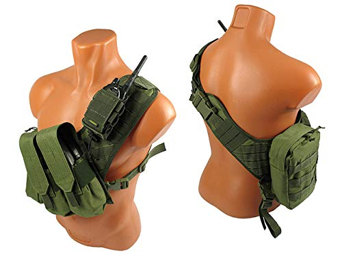 tactic.world Airsoft Tactical Vest 4 MOLLE Modular Tactical Bandolier Airsoft Vest Chest rig Paintball