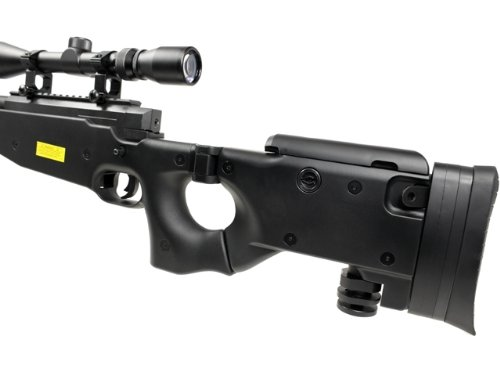 Well  4 Well l96 spring sniper airsoft rifle w/ bi-pod and scope(Airsoft Gun)