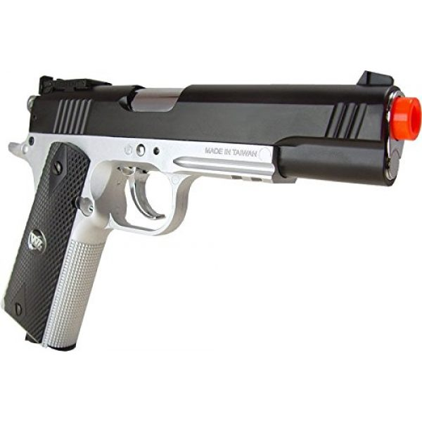 WG Airsoft Pistol 2 500 FPS NEW WG AIRSOFT FULL METAL M 1911 GAS CO2 HAND GUN PISTOL w/ 6mm BB BBs,Heavy Weight Realistic 1:1 Scale