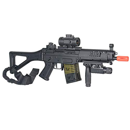 BBTac  3 BBTac Double Eagle Airsoft Gun AEG Electric Rifle Full Auto Great Starter with Premium Airsoft Carrying Sling