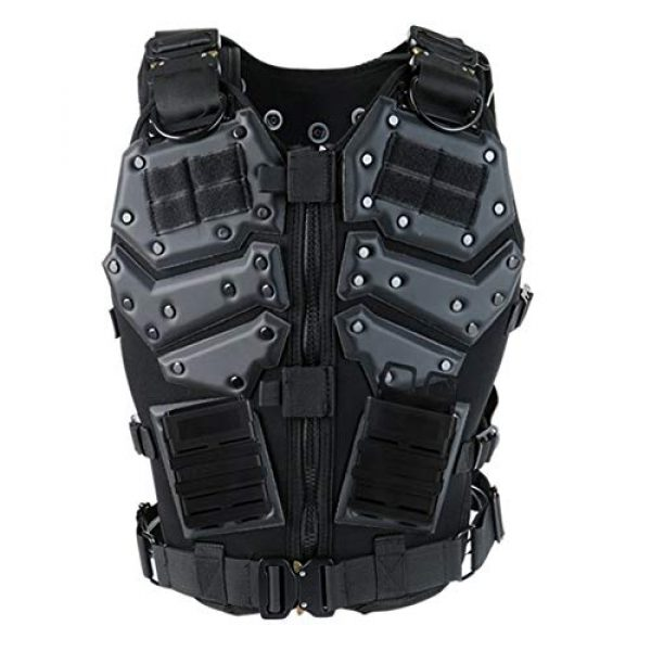 Shefure Airsoft Tactical Vest 1 Shefure Airsoft Tactical Vest Black Swat Body Armor Hunting CS Wargame Paintball Vest Waistcoat with 5.56 Magazine Pouches