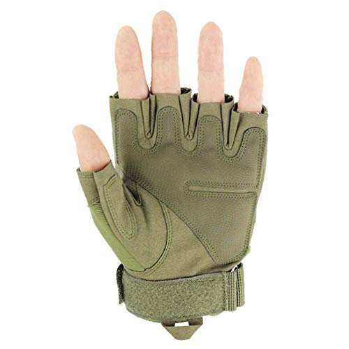 JZYML Airsoft Glove 3 JZYML Tactical Glove Hard Knuckle Fingerless Half Finger Outdoor Cycling Motorcycle Hiking Camping Driving Gloves Guante