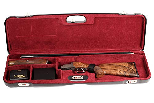 Negrini Cases Airsoft Gun Case 3 Negrini Cases 1657LR/5163 Luxury Shotgun Case for High Rib/1 Gun/1 Barrel up to 36-Inch/ABS/Barrel Vertical with Forend Off