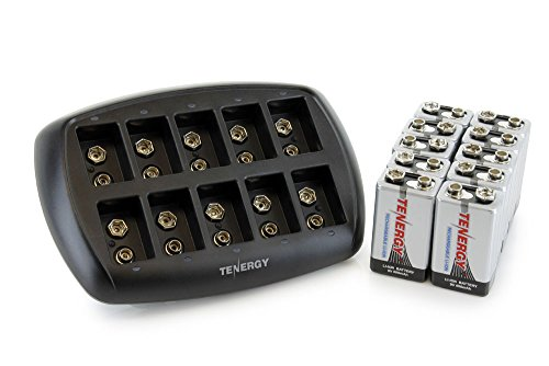 Tenergy Airsoft Battery Charger 1 Tenergy TN295 10-Bay 9V Battery Charger for Li-ion Battery