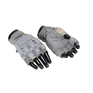 Lancer Tactical Airsoft Glove 1 Lancer Tactical AC-225 Armored Half Finger Airsoft Gloves (ACU