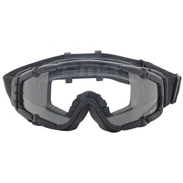 FMA Airsoft Goggle 5 AIRSOFT PAINTBALL OPS CORE JUMP FAN ANTI FOG CLEAR SI GOGGLES GLASSES BLACK SWAT