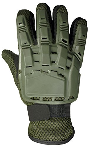 Mafoose Airsoft Glove 1 Mafoose Full Finger Plastic Back Airsoft Paintball Tactical Gloves