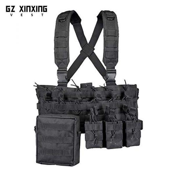 GZ XINXING Airsoft Tactical Vest 2 GZ XINXING Chest Rig Tactical Vest X Harness for Airsoft Shooting Wargame Paintball