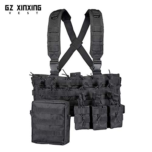GZ XINXING Airsoft Tactical Vest 2 GZ XINXING Chest Rig Tactical Vest X Harness for Airsoft Shooting Wargame Paintball