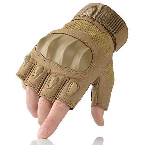 AXBXCX Airsoft Glove 2 AXBXCX Touchscreen Full Finger and Fingerless Gloves for Men