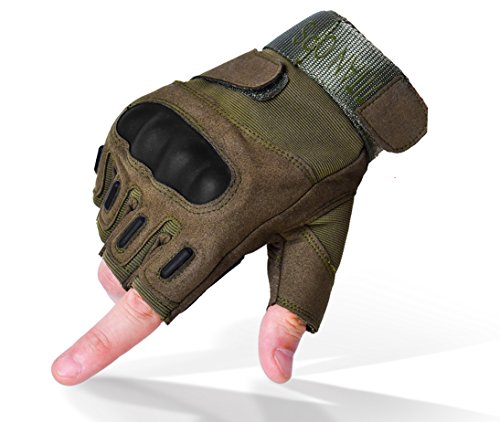 TitanOps Gear Airsoft Glove 1 TitanOPS Fingerless Hard Knuckle Motorcycle Military Tactical Combat Training Army Shooting Outdoor Gloves