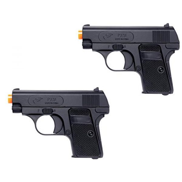 Double Eagle Airsoft Pistol 1 Double Eagle 2 x A&N P328 Compact Spring Airsoft Pistol Hand Gun with 6mm BBS BB Black Great Pistol for Entry Level Airsoft Players