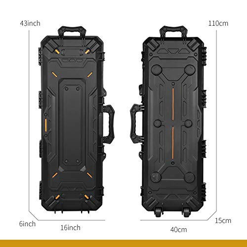 OneTigris Airsoft Gun Case 7 OneTigris Hard Gun Case Watertight Protective Case with Customizable Foam for Pistol (Black - 45L)