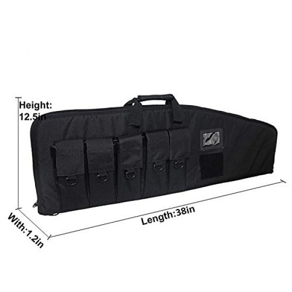 Fox Tactical Airsoft Gun Case 2 Fox Tactical 38 42 Inch Tactical Rifle Case Rifle Bag Long Single Gun Case,with Water Dust Resistant for Hunting Shooting Storage Transport