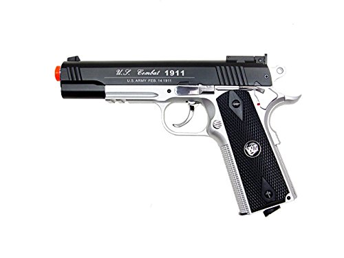 WG Airsoft Pistol 2 500 FPS NEW WG AIRSOFT FULL METAL M 1911 GAS CO2 HAND GUN PISTOL w/ 6mm BB BBs