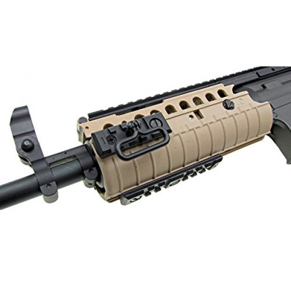 Jing Gong (JG) Airsoft Rifle 5 JG full metal gearbox desert tan aeg w/ integrated rail and high performance tight bore barrel - newest enhanced model by jg(Airsoft Gun)