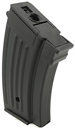 SportPro  2 SportPro 220 Round Metal Stubby High Capacity Magazine for AEG AK47 AK74 Airsoft - Black