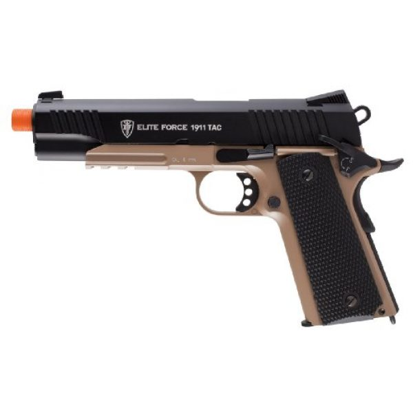 RWS Airsoft Pistol 1 Elite Force 1911 Blowback 6mm BB Pistol Airsoft Gun, 1911 TAC, FDE/Black