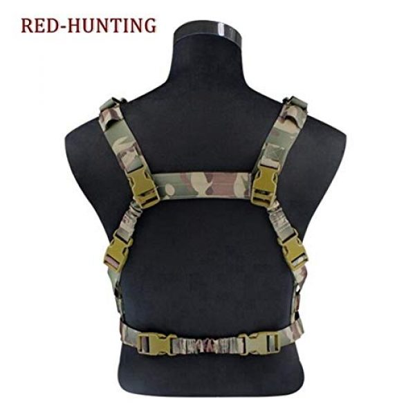 Shefure Airsoft Tactical Vest 3 Shefure Military Tactical Vest Airsoft Molle System Low Profile Chest Rig Removable Gun Sling Hunting Airsoft Paintball Gear