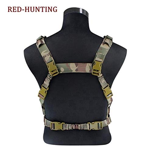 Shefure  3 Shefure Military Tactical Vest Airsoft Molle System Low Profile Chest Rig Removable Gun Sling Hunting Airsoft Paintball Gear