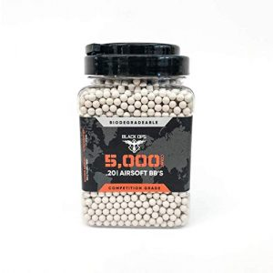 Black Ops Airsoft BB 1 Black Ops .20 G Biodegradable Airsoft BBS - 5,000 Triple Polished Competition Grade 6mm Airsoft BBS for All Airsoft Guns Pistols Rifles AEGs Snipers