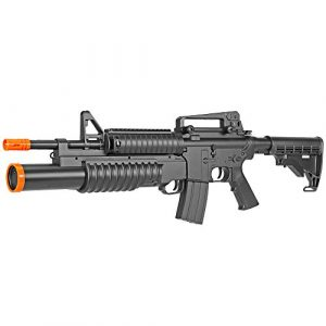 BBTac Airsoft Rifle 1 BBTac Airsoft Gun Electric Rifle Full Auto with Burst 3 Round Launcher, Rail System, Powerful AEG Shoot 6mm BBS