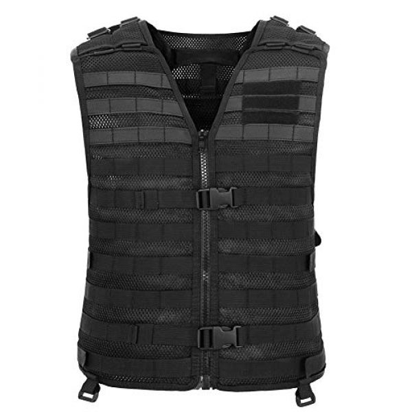 Chief Tac Airsoft Tactical Vest 2 Chief Tac Military Tactical Molle Vest Mesh Light Army Airsoft Paintball Utility Vest, Breathable Lightweight Hunting Fishing Vest for Men