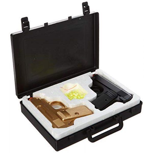 BBTac Airsoft Pistol 2 BBTac Airsoft Spy Handgun - Twin Pack Pocket Pistol Gun with Storage Case (Gold & Black)