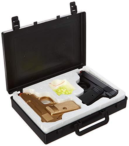 BBTac  2 BBTac Airsoft Spy Handgun - Twin Pack Pocket Pistol Gun with Storage Case (Gold & Black)