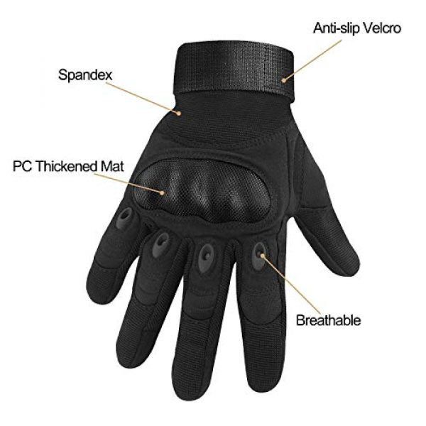 HOMEE Airsoft Glove 2 HOMEE Tactical Gloves Touch Screen Military Rubber Hard Knuckle Full Finger Gloves Fit for Cycling Airsoft Paintball Motorcycle Hiking Camping