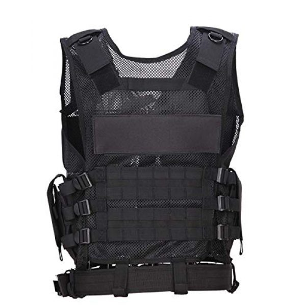 Fouos Airsoft Tactical Vest 3 Fouos Tactical Vest Camouflage Vest Body Armor Molle Outdoor Equipment Paintball Airsoft Combat Protective Vest Men