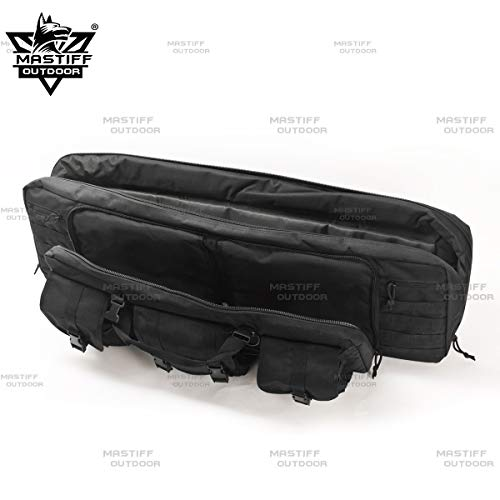 "Mastiff Outdoor Airsoft Gun Case 3 Mastiff Outdoor Tactical Double Long Rifle Pistol Gun Bag Firearm Hungting Pack Transportation Case Paintball Airsoft Length 36"" 42"""