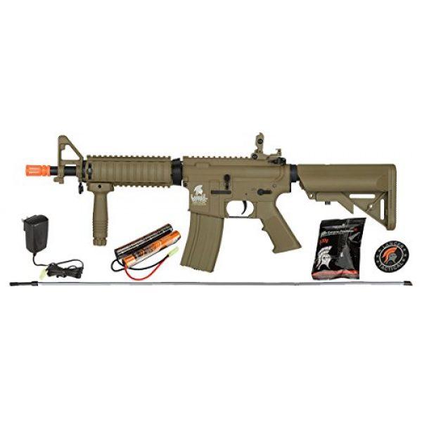 Lancer Tactical Airsoft Rifle 1 UKARMS Lancer Tactical MK18 MOD 0 AEG FIELD Metal Gears Airsoft Gun Rifle w 9.6v Battery & Charger (Tan High Velocity)