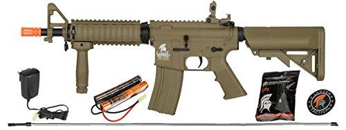 Lancer Tactical  1 UKARMS Lancer Tactical MK18 MOD 0 AEG FIELD Metal Gears Airsoft Gun Rifle w 9.6v Battery & Charger (Tan High Velocity)