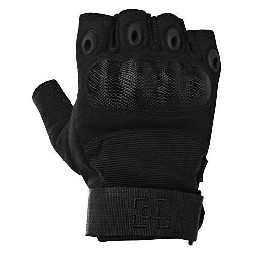 TG Airsoft Glove 3 TG Hellfox Fingerless Tactical Gloves for Men Hard Knuckle for Military Police Combat Motorcycle Outdoors Camping Cycling Paintball