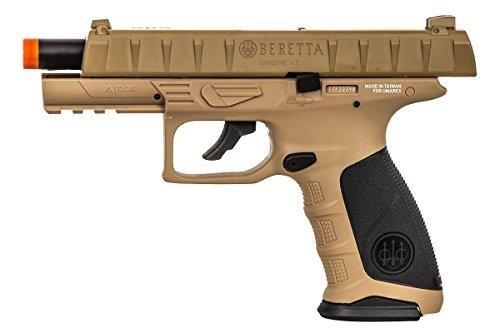 Elite Force Airsoft Pistol 5 Elite Force Beretta APX CO2 Blowback Pistol Airsoft Gun (FDE)