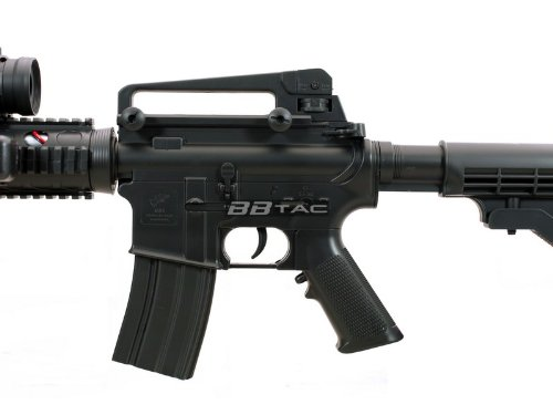 BBTac  6 BBTac M83 Full and Semi Automatic Electric Powered Airsoft Gun Full Tactical Accessories Ready to Play Package