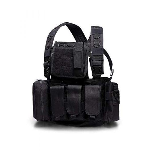 MINGWANG Airsoft Tactical Vest 2 MINGWANG Tactical Vest Outdoor Training Chest Rigs,Airsoft Vest Gear Adjustable Combat Vest